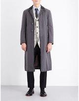 Thom Browne Frayed Cotton Coat