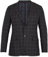 Brioni Single-breasted Checked Flannel-wool Blazer