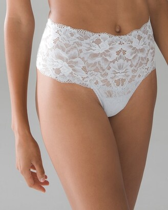 Soma Intimates Signature Allover Lace Retro Thong