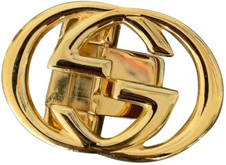 Gucci GG Buckle Gold Metal Belts