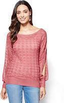 New York & Co. Pointelle-Knit Scoopneck Sweater