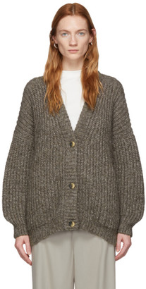 LAUREN MANOOGIAN Brown Grandma Cardigan