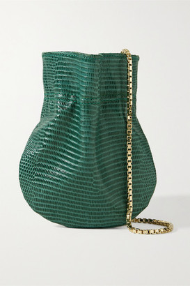 Tl 180 TL-180 - Le Mini Fazzoletto Lizard-effect Leather Shoulder Bag - Emerald