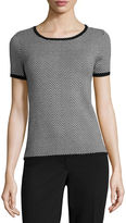 Liz Claiborne Short-Sleeve Sweater Shell