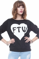Local Celebrity For The Win Erin Sweater in Black