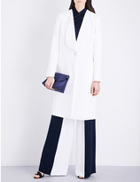 Cushnie et Ochs Popper-fastened stretch-crepe coat