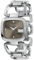Gucci G 32mm Stainless Steel Bracelet with Diamonds Watch-YA125401 Watches