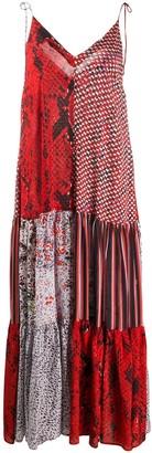 Lala Berlin patchwork python-print dress