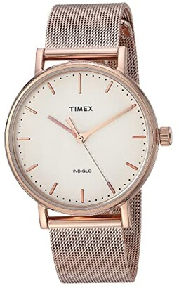 Timex Fairfield Mesh (Rose Gold/Natural) Watches