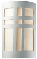 "575 Denim Brocka Cross Window 1-Light Flush Mount Wrought Studio Bulb Type: Incandescent, Size: 9.5"" H x W x 4.5"" D"