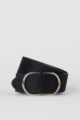 H&M Wide Waist Belt - Black