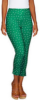 As Is Women with Control Tall Confetti Dot Slim Leg Crop Pants