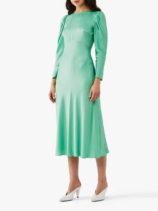 Ghost Rosaleen Flared Satin Dress