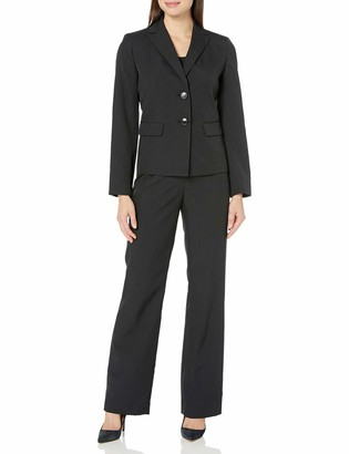 Le Suit LeSuit Women's 2 Button Black Pant Suit 14
