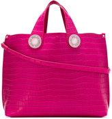 Versace croc-effect tote bag - women - Polyester/Synthetic Resin - One Size