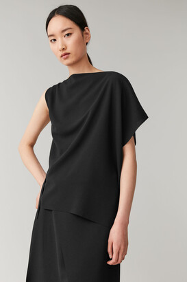 Cos Recycled Crepe Draped Top
