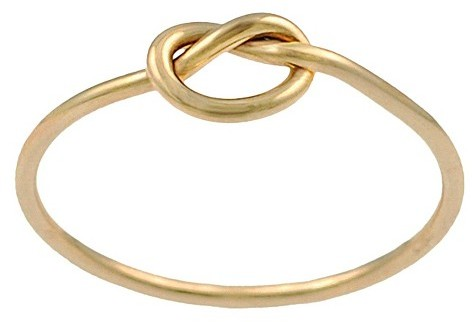 Journee Collection Goldfill Knot Ring - Gold