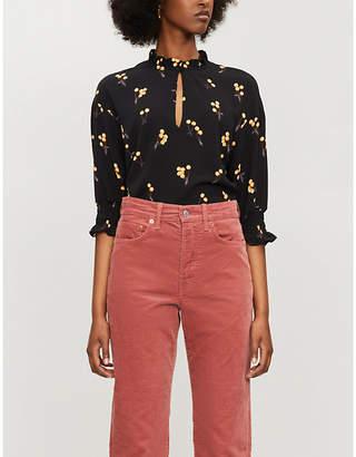 Baum und Pferdgarten Miley cherry-pattern crepe blouse