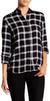 Romeo & Juliet Couture Long Sleeve Woven Plaid Button Up Shirt