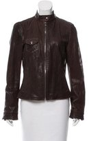 Dolce & Gabbana Leather Perforated Jacket