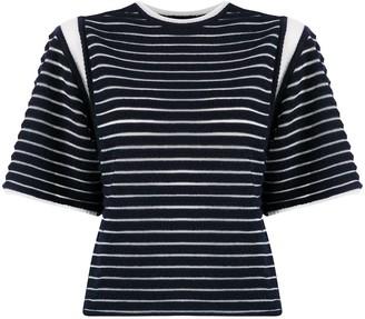 Falke fine knit striped T-shirt