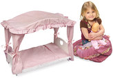 Badger Basket Doll Canopy Bed with Pink Gingham Bedding