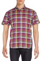 Robert Graham Regular-Fit Coral Cliff Plaid Cotton Sportshirt