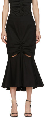 Edit Black Split Peplum Skirt