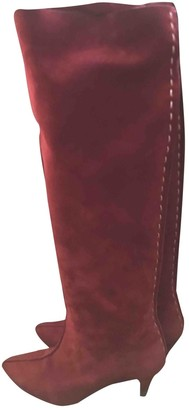 AmAlie Pichard Red Suede Boots