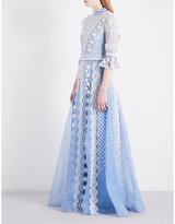 Temperley London Jewellery Show embellished silk-organza gown
