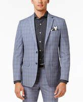 Sean John Men's Slim-Fit Light Blue Plaid Jacket