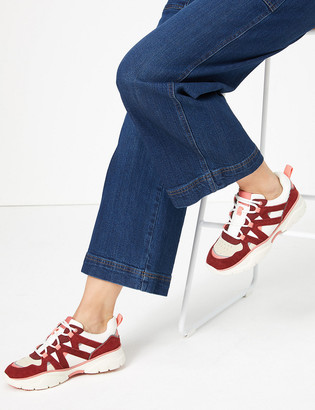 Marks and Spencer Suede Lace Up Trainers