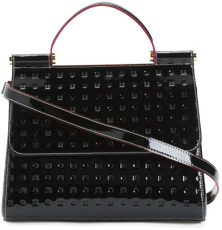 5b967ff43 Black Patent Leather Satchel - ShopStyle