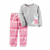 Carter's Girls Long Sleeve Kids Pajama Set-Toddler