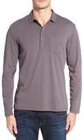 Robert Barakett Men's Calgary Long Sleeve Polo