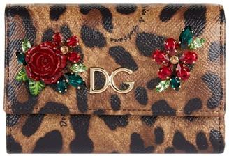 Dolce & Gabbana Embellished French Flap Wallet
