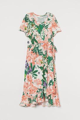 H&M H&M+ Tie-belt Dress - Orange