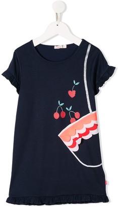 Billieblush Graphic Print Applique Detail Dress