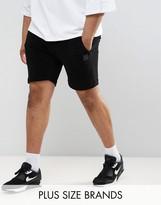 Religion Plus Sweat Shorts In Black Towelling