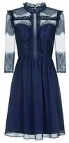 Dorothy Perkins Womens *Chi Chi London Navy Lace Midi Dress, Navy
