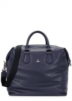Vivienne Westwood Dark Blue Leather Holdall
