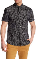 Slate & Stone Car Patterned Short Sleeve Trim Fit Shirt