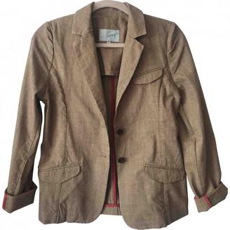 Jigsaw Brown Cotton Jacket for Women