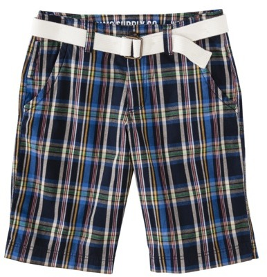 Mossimo Men's Chino Shorts - Navy Plaid