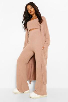 boohoo Premium Soft Fluffy Knit Maxi Cardigan