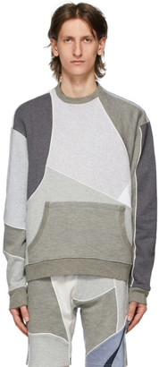 Ahluwalia Grey Patchwork Sweatshirt