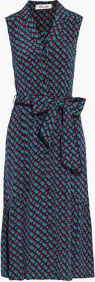 Diane von Furstenberg Delilah Belted Printed Silk Crepe De Chine Dress