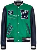 Off-white Eagle Patch Varsity Jacket