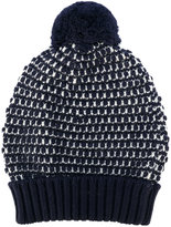Zanone knitted bobble hat