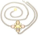 Chanel Pre-owned: Rhinestone Studded Flower Belt.
